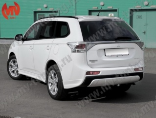 Диффузор заднего бампера Mitsubishi Outlander (3rd generation) Broomer Design (2012-2014)