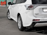 Клыки заднего бампера Mitsubishi Outlander (3rd generation) Broomer Design (2012-2014)
